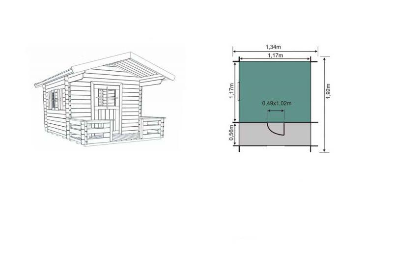 Kinderspielhaus Holz Bausatz ~ Kinder  Spielhaus aus Holz  Gartenhaus  Holzhaus